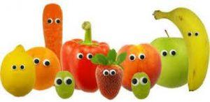 Fruit met oogjes